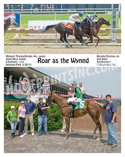 Roar as the Wynnd winning at Delaware Park on 5/30/11