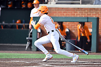 University of Tennessee Max Ferguson (2) swings at a pitch during a game against Western Illinois at Lindsey Nelson Stadium on February 15, 2020 in Knoxville, Tennessee. The Volunteers defeated Leathernecks 19-0. (Tony Farlow/Four Seam Images)