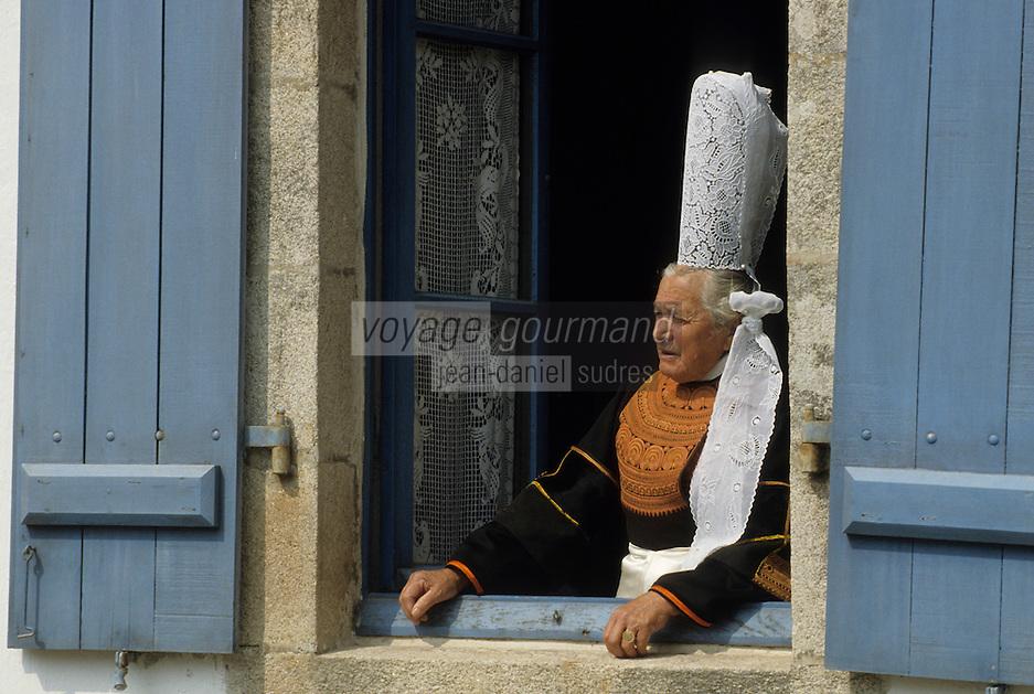 Europe/France/Bretagne/29/Finistère/Pont-l'Abbé : Maria la bigoudenne [Non destiné à un usage publicitaire - Not intended for an advertising use]