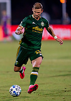 13th July 2020, Orlando, Florida, USA;  Portland Timbers defender Dario Zuparic (13) shoots the ball during the MLS Is Back Tournament between the LA Galaxy versus Portland Timbers on July 13, 2020 at the ESPN Wide World of Sports, Orlando FL.