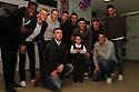 Chris Day, Jon Ashton, Peter Hartley, Steve Arnold and Oumare Tounkara <br /> Stevenage FC players visit Lister Hospital Children's ward.  <br />  - Lister Hospital, Stevenage - 18th December, 2013<br />  &copy; Kevin Coleman 2013