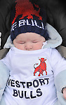 4month old David Dunning the youngest Westport Bulls fan at the cup final on sunday.<br /> Pic Conor McKeown