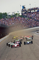 87th Indianapolis 500, Indianapolis Motor Speedway, Speedway, Indiana, USA  25 May,2003.Scott Dixon heads the field on a restart..World Copyright©F.Peirce Williams 2003 .ref: Digital Image Only..F. Peirce Williams .photography.P.O.Box 455 Eaton, OH 45320.p: 317.358.7326  e: fpwp@mac.com..