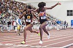 COLLEGE STATION, TX - MARCH 11: Kendall Ellis of USC and Shakima Wimbley of Miami compete in the 400 meter dash during the Division I Men's and Women's Indoor Track & Field Championship held at the Gilliam Indoor Track Stadium on the Texas A&M University campus on March 11, 2017 in College Station, Texas. (Photo by Michael Starghill/NCAA Photos/NCAA Photos via Getty Images)