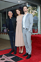 LOS ANGELES - MAR 25:  Adam Shankman, Mandy Moore, Shane West at the Mandy Moore Star Ceremony on the Hollywood Walk of Fame on March 25, 2019 in Los Angeles, CA