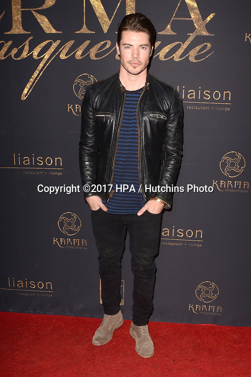 "LOS ANGELES - MAY 20:  Josh Henderson at the ""Karma Masquerade"" at the Liaison lounge on May 20, 2017 in Hollywood, CA"