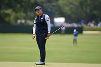 Angel Yin (USA) watches her putt on 4 during round 3 of the 2019 US Women's Open, Charleston Country Club, Charleston, South Carolina,  USA. 6/1/2019.<br /> Picture: Golffile | Ken Murray<br /> <br /> All photo usage must carry mandatory copyright credit (© Golffile | Ken Murray)