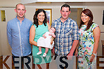 Lisa Goulding and PJ O'Donoghue enjoying christening of their daughter Chloe Kate Goulding O'Donoghue with godparents Nail O'Donoghue and Sarah Goulding (all from Glenflesk/ Gneevgullia) in The Kerry Way, Glenflesk last Sunday.
