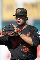 Erik Morrison of the Bakersfield Blaze during game against the Lake Elsinore Storm at The Diamond in Lake Elsinore,California on July 25, 2010. Photo by Larry Goren/Four Seam Images