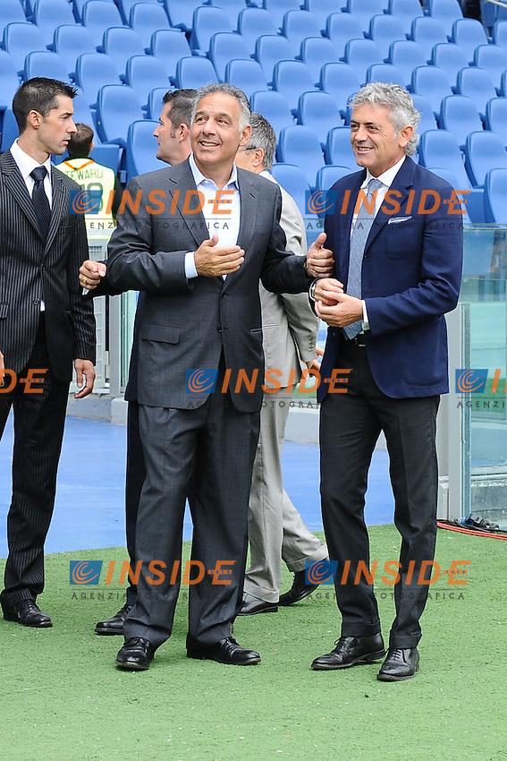 James Pallotta, presidente della AS Roma, con Franco Baldini, direttore sportivo..07/10/2012 Roma.Stadio Olimpico.Football Calcio 2012 / 2013 .Campionato di Calcio Serie A.Roma vs Atalanta 2-0.Foto Insidefoto / Antonietta Baldassarre.