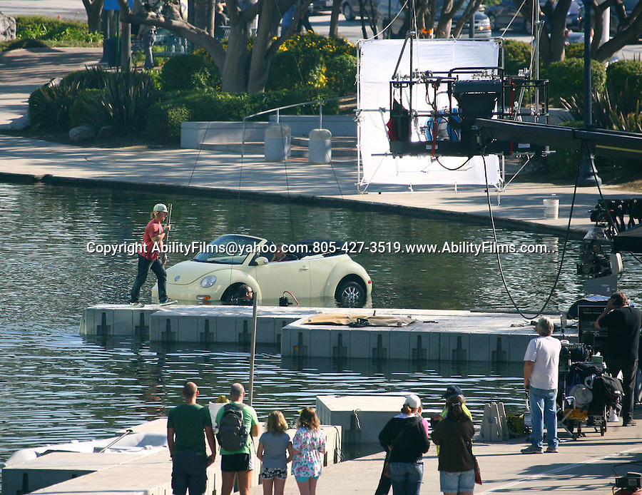 December 10th 2011..Chelsea Handler filming the movie This Means War in Long Beach California.  ...AbilityFilms@yahoo.com.805-427-3519.www.AbilityFilms.com..