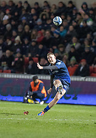 8th November 2019; AJ Bell Stadium, Salford, Lancashire, England; English Premiership Rugby, Sale Sharks versus Coventry Wasps; Rob du Preez of Sale Sharks kicks a penalty for Sale in the second half to make it 16-10 to the home side - Editorial Use