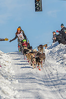 Victoria Hardwick on Cordova St. hill during the Anchorage start day of Iditarod 2018 on Cordova St. hill during the Anchorage start day of Iditarod 2019