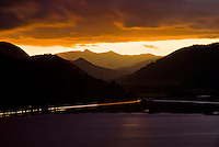 Looking toward Havelock in Marlborough Sounds during sunset - Marlborough, New Zealand