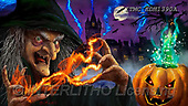 Marcello,halloween,witch,pumpkins, paintings+++++,ITMCEDH1390A,#A#, EVERYDAY