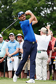 4th June 2017, Dublin, OH, USA;  Charl Schwartzel tees off on the first hole during the Memorial Tournament - Final Round at Muirfield Village Golf Club in Dublin, Ohio