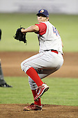 Williamsport Crosscutters pitcher Chase Johnson (40) during a game vs the Batavia Muckdogs at Dwyer Stadium in Batavia, New York July 26, 2010.   Batavia defeated Williamsport 3-2.  Photo By Mike Janes/Four Seam Images