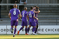 Blair Turgott of Maidstone United is congratulated after scoring the first goal during Barnet vs Maidstone United , Vanarama National League Football at the Hive Stadium on 3rd November 2018
