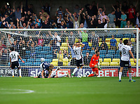Millwall's George Saville scores the opening goal leaving Bolton Wanderers' goalkeeper Mark Howard dejected<br /> <br /> Photographer Ashley Western/CameraSport<br /> <br /> The EFL Sky Bet Championship - Millwall v Bolton Wanderers - Saturday August 12th 2017 - The Den - London<br /> <br /> World Copyright &not;&copy; 2017 CameraSport. All rights reserved. 43 Linden Ave. Countesthorpe. Leicester. England. LE8 5PG - Tel: +44 (0) 116 277 4147 - admin@camerasport.com - www.camerasport.com