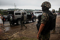 Mexican Marines during an operation to catch members of drug trafficker groups storming  Xalapa with murders, kidnaps and menaces