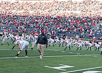 Notre Dame, Indiana - September 9, 2017: The twenty fourth ranked Notre Dame Fighting Irish host the fifteenth ranked University of Georgia Bulldogs at Notre Dame Stadium.  Final score University of Georgia 20, Notre Dame 19.