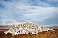 Barpa Langass Chambered Cairn, North Uist, Outer Hebrides, Scotland