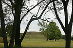 Cahokia Mounds is the largest archaeological site related to the Mississippian culture, which developed advanced societies in the central and eastern present-day United States. It is designated a National Historic Landmark and listed on the National Register of Historic Places. UNESCO designated the Cahokia Mounds State Historic Site as a World Heritage Site. It is the only site in Illinois and among only twenty-one cultural World Heritage Sites in the United States. Cahokia Mounds was designated a National Historic Landmark in 1964, and listed on the National Register of Historic Places in 1966.<br />