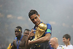 15/07/2018, Luzhniki stadium, Moscow, Russia; FIFA World Cup Russia 2018, Final Football Match France versus Croatia, France is the new World Champion. France won the World Cup for the second time 4-2 against Croatia. FRA4 DF Raphael Varane