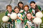 COOL KIDS: Stars from Duagh enjoying the Kerry GAA VHI Cul Camp in Duagh on Thursday last..Front L/r. Chloe Horan, Rebecca Murphy..Back L/r. Aisling McCarthy,Eda Mangan, Tamara Kirby and Majella Lucy..