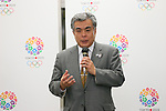 Yukihiko Nunomura, <br /> JANUARY 28, 2014 : <br /> For the first time in the office full-scale operation <br /> of the general Foundation Tokyo Olympic <br /> and Paralympic Games Organizing Committee, <br /> at the Metropolitan Government, <br /> Mr. Yoshiro Mori president, <br /> Toshiro Muto Secretary-General, <br /> Nunomura Deputy Secretary-General, <br /> the organizing committee assigned the 28th schedule staff, <br /> and, to say hello to Tokyo Olympic and Paralympic preparation station staff. <br /> at Tokyo Metropolitan Government Building, Tokyo, Japan. <br /> (Photo by YUTAKA/AFLO SPORT)