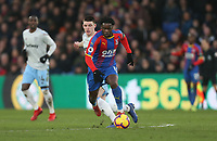 Crystal Palace's Jeffrey Schlupp and West Ham United's Declan Rice<br /> <br /> Photographer Rob Newell/CameraSport<br /> <br /> The Premier League - Saturday 9th February 2019  - Crystal Palace v West Ham United - Selhurst Park - London<br /> <br /> World Copyright © 2019 CameraSport. All rights reserved. 43 Linden Ave. Countesthorpe. Leicester. England. LE8 5PG - Tel: +44 (0) 116 277 4147 - admin@camerasport.com - www.camerasport.com