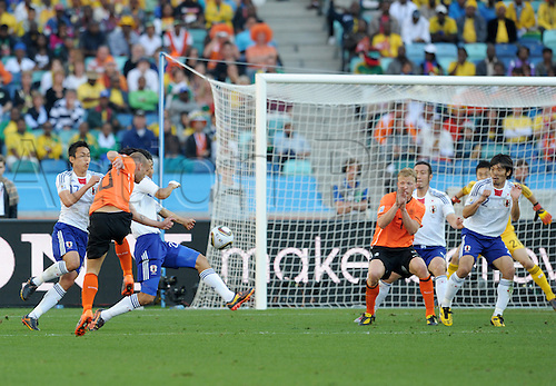 Wesley SNEIJDER (2vl./ NED) scores the games only goal with a wicked drive Match 25: Netherland - Japan, Durban, 19th June 2010-FIFA- Soccer World Championship 2010 in South Africa..