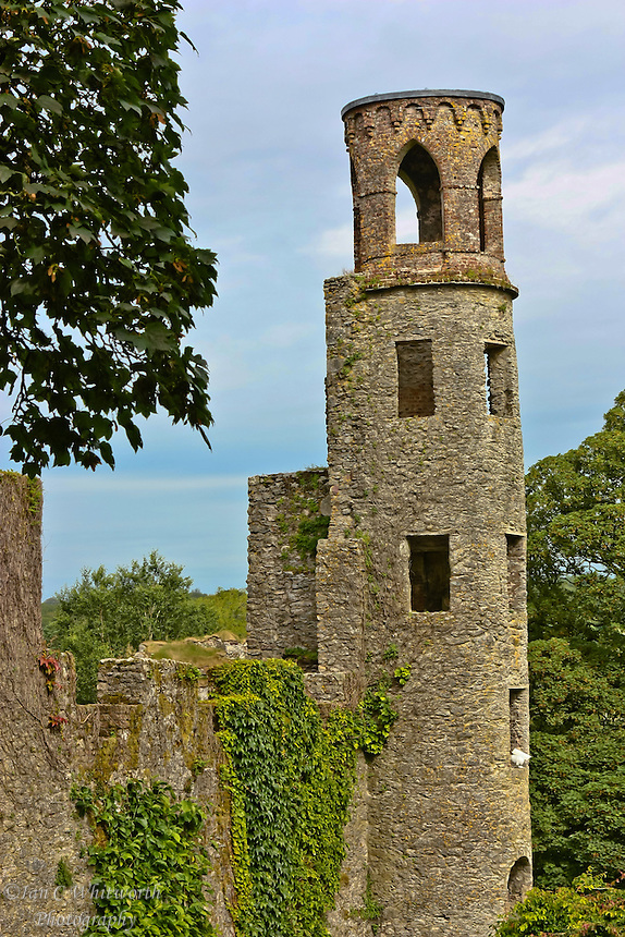 A view of the tower at Blarney Castle