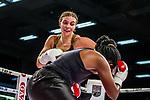 li: Christina Hammer / beim Kampf Christina Hammer (GER) vs. Florence Muthoni (KEN) - Middleweight ; Boxen: ECB ECBOXING am 08.02.2020 in Goeppingen (EWS Arena), Baden-Wuerttemberg, Deutschland.<br /> <br /> Foto © PIX-Sportfotos *** Foto ist honorarpflichtig! *** Auf Anfrage in hoeherer Qualitaet/Aufloesung. Belegexemplar erbeten. Veroeffentlichung ausschliesslich fuer journalistisch-publizistische Zwecke. For editorial use only.