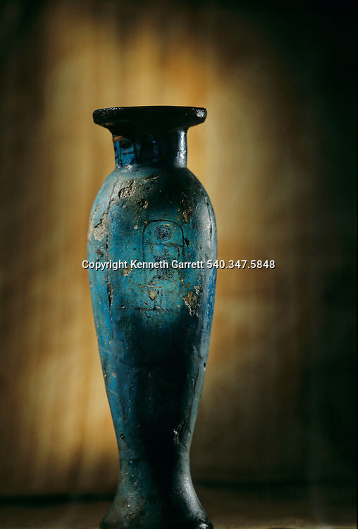 Faience model, ritual vessel, Tomb of Amenhotep II; KV 35Tutankhamun and the Golden Age of the Pharaohs, Page 94