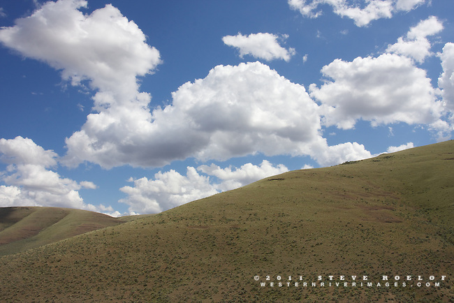 Sage and sky above the John Day River, Oregon.