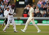 7th September 2017, Lords Cricket Ground, London, England; International Test Match Series, Third Test, Day 1; England versus West Indies; England Bowler James Anderson celebrates taking the wicket of West Indies batsman Kraigg Brathwaite
