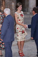 MADRID, SPAIN &ntilde; AUGUST 04: Queen Sofia, King Felipe and Queen Letizia attends the authorities reception at La Almudaina palace in Palma de Mallorca, Spain. August 04, 2016.  ***NO SPAIN***<br /> CAP/MPI/RJO<br /> &copy;RJO/MPI/Capital Pictures