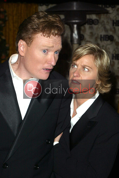Conan O'Brien and Ellen Degeneres