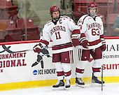 Kyle Criscuolo (Harvard - 11), Colin Blackwell (Harvard - 63) - The Harvard University Crimson defeated the visiting Colgate University Raiders 7-4 (EN) on Saturday, February 20, 2016, at Bright-Landry Hockey Center in Boston, Massachusetts,