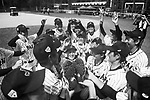 KITTA MEGUMI Japan Japan Head Coach is throw up by your team after winning India during the BFA Women's Baseball Asian Cup match between Japan and India at Sai Tso Wan Recreation Ground on September 6, 2017 in Hong Kong. Photo by Marcio Rodrigo Machado / Power Sport Images<br /> <br /> (EDITOR NOTE...BLACK AND WHITE CHANGED BY LIGHTROOM)