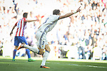 Real Madrid's Pepe celebrating a goal during La Liga match between Real Madrid and Atletico de Madrid at Santiago Bernabeu Stadium in Madrid, April 08, 2017. Spain.<br /> (ALTERPHOTOS/BorjaB.Hojas)