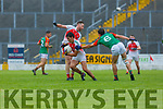 PAul O'Shea Kilcummin gets away from Mike Breen Mid Kerry during their SFC clash in Fitzgerald Stadium on Saturday