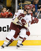Andrew Orpik (Boston College - East Amherst, NY), Mike Taylor (Harvard University - Maple Grove, MN) - The Boston College Eagles defeated the Harvard University Crimson 3-1 in the first round of the 2007 Beanpot Tournament on Monday, February 5, 2007, at the TD Banknorth Garden in Boston, Massachusetts.  The first Beanpot Tournament was played in December 1952 with the scheduling moved to the first two Mondays of February in its sixth year.  The tournament is played between Boston College, Boston University, Harvard University and Northeastern University with the first round matchups alternating each year.