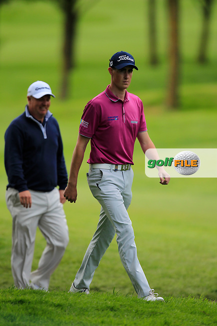 Gary Hurley (IRL) walking off the 18th tee during Round 1 of the Dubai Duty Free Irish Open presented  by the Rory Foundation at The K Club, Straffan, Co. Kildare<br /> Picture: Golffile | Thos Caffrey<br /> <br /> All photo usage must carry mandatory copyright credit <br /> (&copy; Golffile | Thos Caffrey)