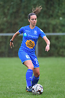 20200819, Sint-Amandsberg , GENT , BELGIUM :  Gent's Elise Meijerinck pictured during a friendly soccer game between KAA Gent ladies and RC Lens ladies in the preparations for the coming season 2020 - 2021 of Belgian Women's SuperLeague and French second division , Wednesday 19 th of August 2020 in JAGO Sint-Amandsberg / Gent, Belgium . PHOTO SPORTPIX.BE | STIJN AUDOOREN