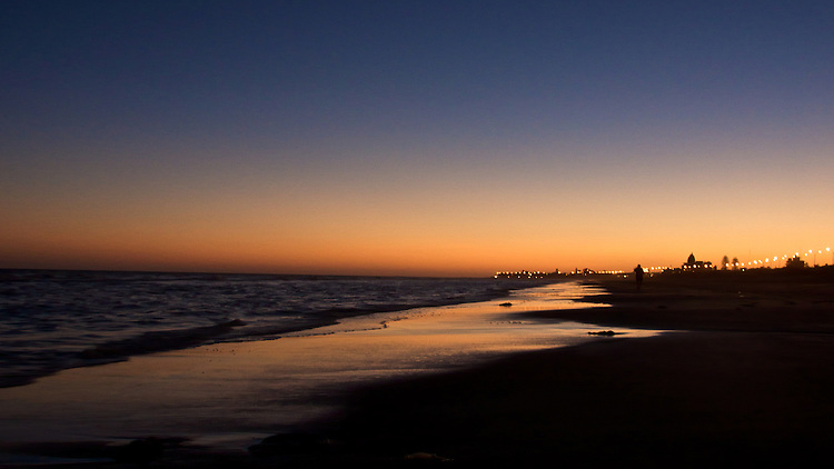 Carrasco beach at sunset, Montevideo, Uruguay.  ..It truly is a privilege to have the water so close to home.  In the afternon, as the sun starts to go down, I love to gather my pocket camera and my chocolate lab, and gor for a walk by the water.