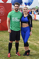 Matt Johnson &amp; Ashley James at the start of the 2017 London Marathon on Blackheath Common, London, UK. <br /> 23 April  2017<br /> Picture: Steve Vas/Featureflash/SilverHub 0208 004 5359 sales@silverhubmedia.com