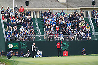 Tyrrell Hatton (ENG) on the 18th green during the 3rd round of the US Open Championship, Pebel Beach Golf Links, Monterrey, Calafornia, USA. 15/06/2019.<br /> Picture Fran Caffrey / Golffile.ie<br /> <br /> All photo usage must carry mandatory copyright credit (© Golffile | Fran Caffrey)