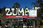 Neil Young billboard on Sunset Strip for album Zuma circa 1975